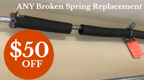$50 Off ANY Broke Spring Repair