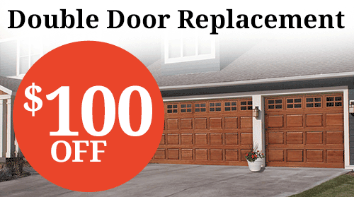 $100 Off Double Door Replacement