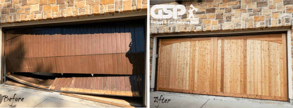 Garage Door Replacement. Before and After