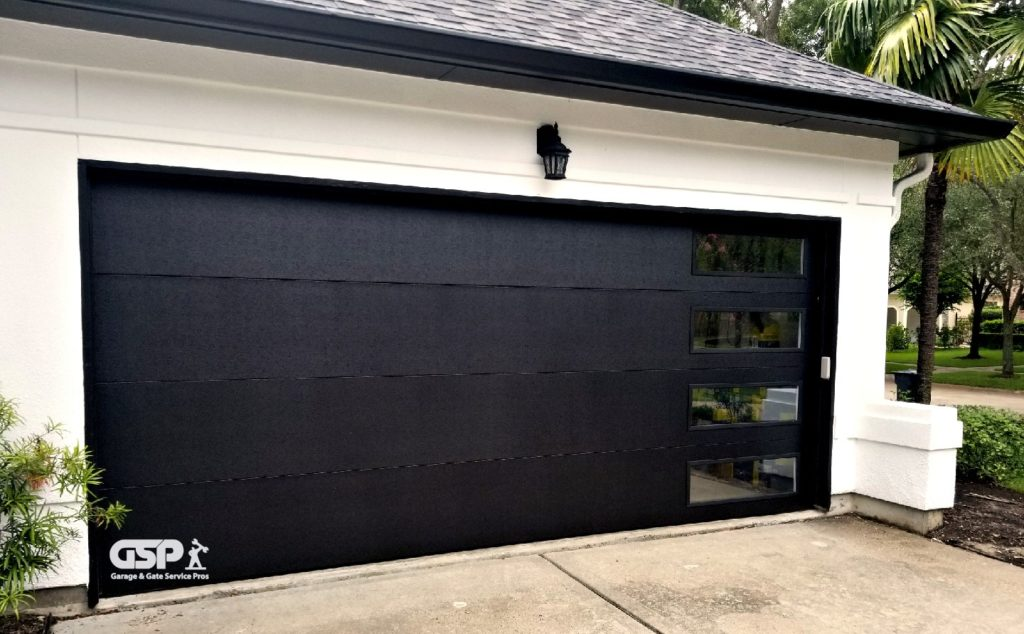 Nice Black Automatic Garage Door  | garage door repair in Pasadena TX