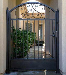 Wrought Iron Courtyard Gate