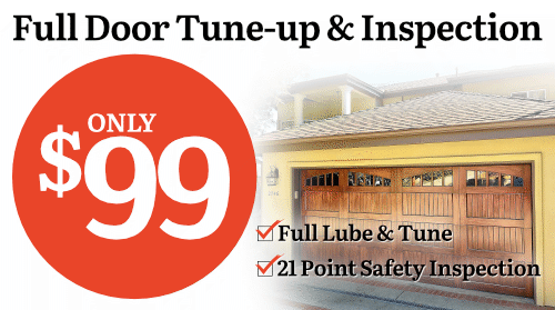 $99 Garage Door Tune-up and Inspection