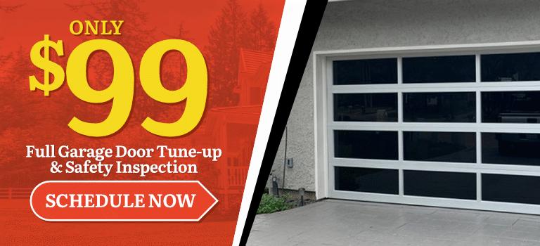 $99 Garage Door Tune-up and Inspection