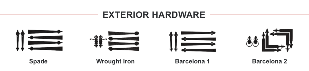 Exterior Hardware Options