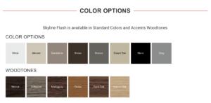 Skyline Flush Color Options