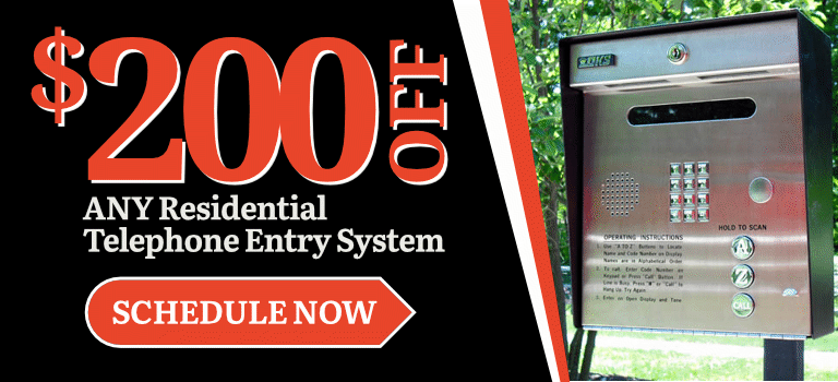 $200 Off Residential Telephone Entry System